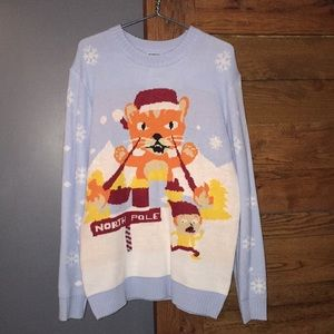 Sweaters - oversized funny cat sweater